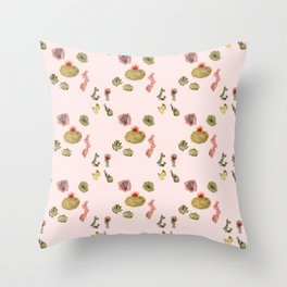 Don't Be A Prick (pink) Throw Pillow