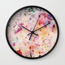 Flower Patch Wall Clock