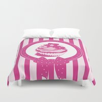 cupcake Duvet Covers featuring Cupcake by tiphaine peron