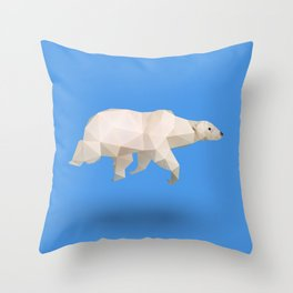 Polar Bear. Throw Pillow