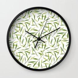 Bamboo Leaves 2 Wall Clock