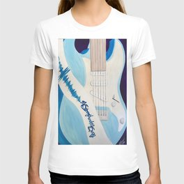 Blue Guitar and Strap T-shirt