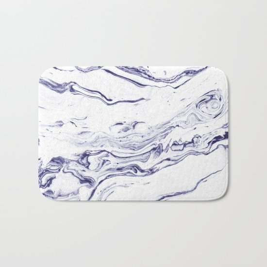 Navy Blue Marble #society6 #decor #marble Bath Mat
