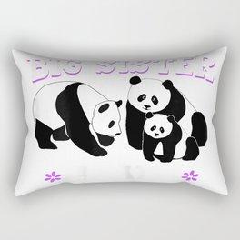 I'm Going to be a Big Sister Again October 2018 Panda Shirt Rectangular Pillow