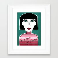 french Framed Art Prints featuring French by Julieta Gutnisky