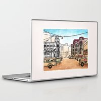 philippines Laptop & iPad Skins featuring Philippines : Escolta by Ryan Sumo
