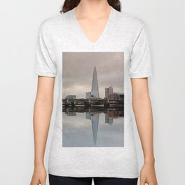 Reflections of the Shard Unisex V-Neck