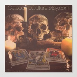 Catacomb Culture - Skulls and Tarot Canvas Print