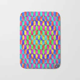 Tumbler #31 Psychedelic Optical Illusion Design by CAP Bath Mat