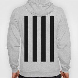 Retro Black & White Stripe Pattern Hoody