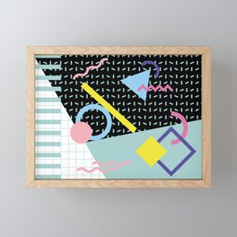 Memphis Pattern 6 - 80s - 90s - Retro Framed Mini Art Print