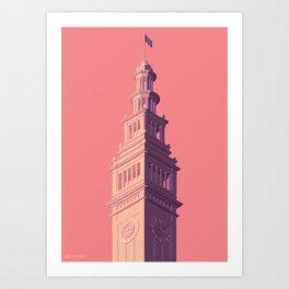 San Francisco Towers - 03 - Ferry Building (sunset version) Art Print