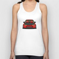 honda Tank Tops featuring Honda Civic EF9 by IrvSim