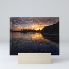 The Sun setting on Roy lake - SD Mini Art Print