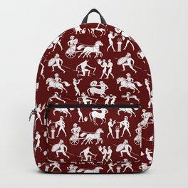 Greek Figures // Burgundy Backpack