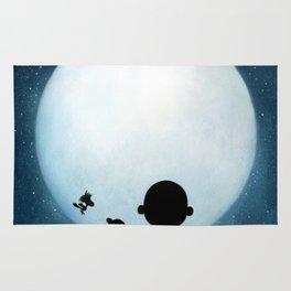 full moon snoopy charlie brown Rug