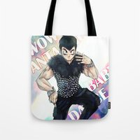 dbz Tote Bags featuring + DBZ - Seungri + by MitsuBlinger