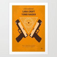 No209 Lara Croft Tomb Raider minimal movie poster Art Print