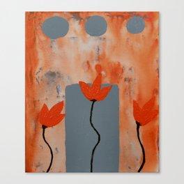 Orange Flowers Abstract Art by Saribelle Rodriguez Canvas Print