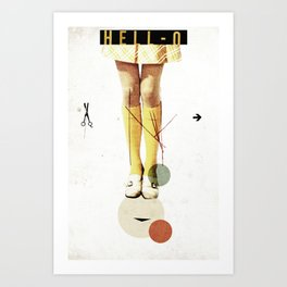 Cut The (...) | Collage Art Print