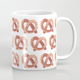 Pretzel watercolor pattern Coffee Mug
