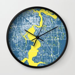 JACKSONVILLE City Map | Florida US | Blue | More Colors, Review My Collections Wall Clock