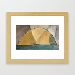 sunrise. sunset. Framed Art Print