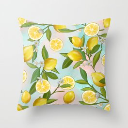 Shitty Lemons Outlined Throw Pillow