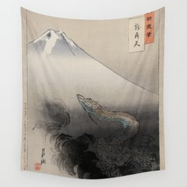 Dragon Rising to the Heavens at Mount Fuji Ogata Gekko Wall Tapestry
