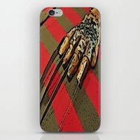 freddy krueger iPhone & iPod Skins featuring Freddy Krueger by Rachel Bradford
