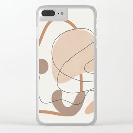 Abstract Line Movement III Clear iPhone Case