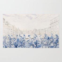 Amsterdam cyclists Rug