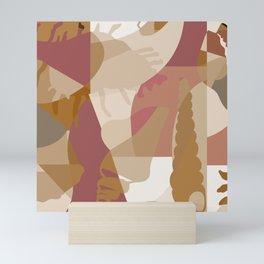 Beach Vibes - Neutral Modern Abstract Bybrije Mini Art Print