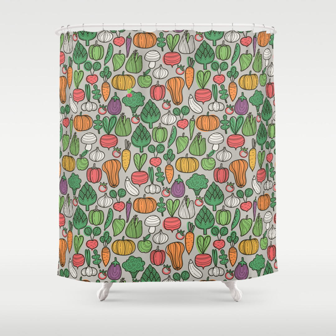 Eggplant and Food Shower Curtains | Society6