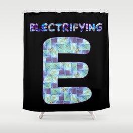 Alphabet - Electrifying E Shower Curtain