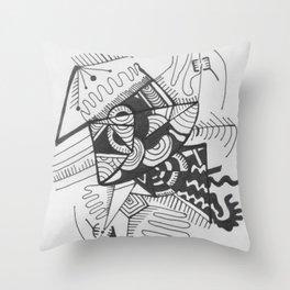 smush [white] Throw Pillow
