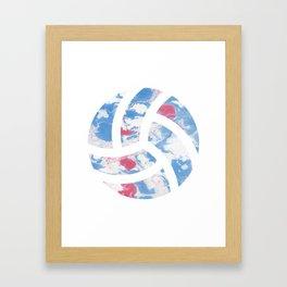 Watercolor volleyball volleyballer gift Framed Art Print