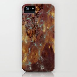 Abstract copper pattern iPhone Case