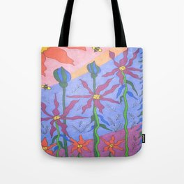 Blue Bohemian Garden Art Tote Bag