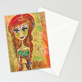 """""""Life Should Not Only Be Lived, It Should Be Celebrated"""" Osho Stationery Cards"""