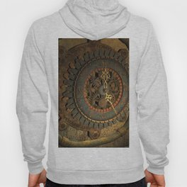 Steampunk, awesome clock, rusty metal Hoody