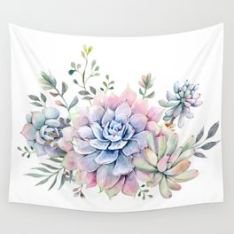 succulent watercolor 1 Wall Tapestry