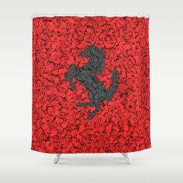 Red Homage to Ferrari Shower Curtain
