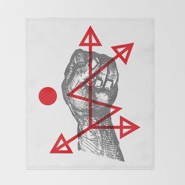 DKMU - Resistance against consensual reality Throw Blanket