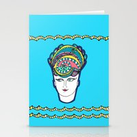 headdress Stationery Cards featuring Headdress by G.L.BEANS