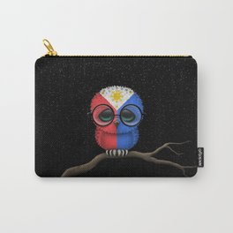 Baby Owl with Glasses and Filipino Flag Carry-All Pouch