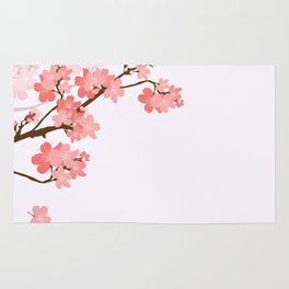 Blooming cherry tree Rug