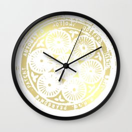 power of one: white gold Wall Clock