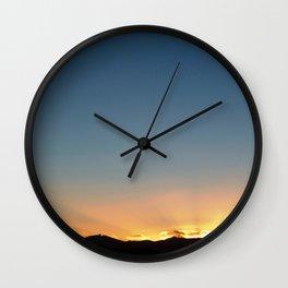 Moeraki Sunset Wall Clock