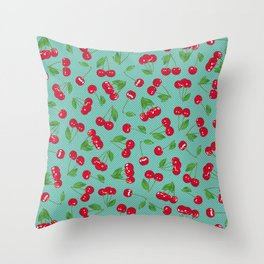Very cerise - Aqua Throw Pillow